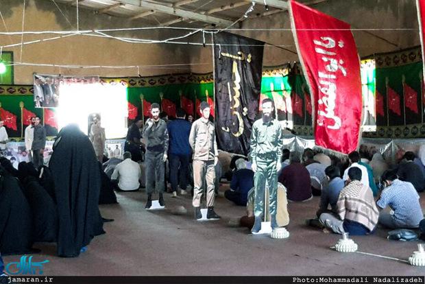 مراسم دعای عرفه در حسینیه مقر گردان تخریب