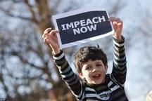 عکس/ کودکی که خواستار استیضاح ترامپ شد