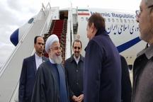رئیس جمهور روحانی وارد روسیه شد