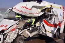 واژگونی مرگبار آمبولانس در آزادراه قزوین-زنجان