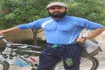 دوچرخه سوار گناوه ای سفر به دور ایران را آغاز کرد