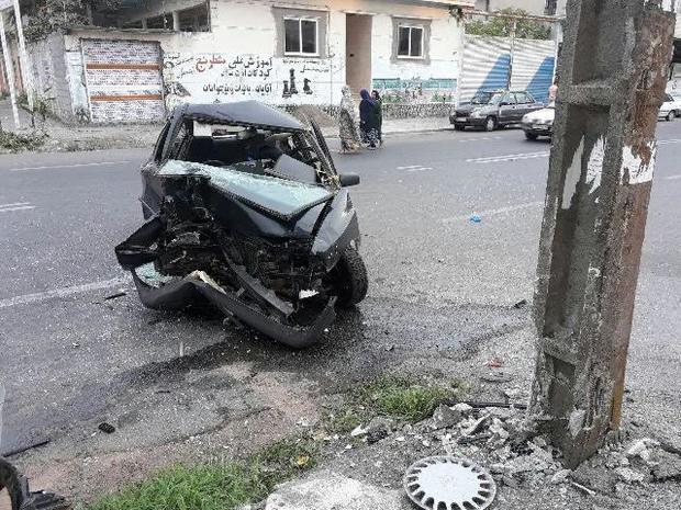 تصادم خودرو در بندرانزلی یک کشته و مصدوم برجای گذاشت