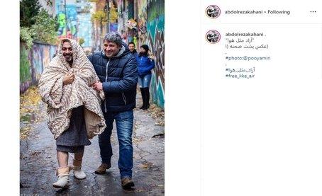 رضا عطاران در پشت صحنه فیلم جدیدش در کانادا+ عکس