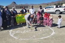 کلنگ ساخت مدرسه 2 کلاسه خیری در روستای میشود نیکشهر به زمین زده شد