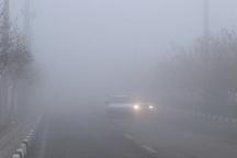 کندی تردد خودروها در گردنه های خراسان شمالی به علت مه گرفتگی