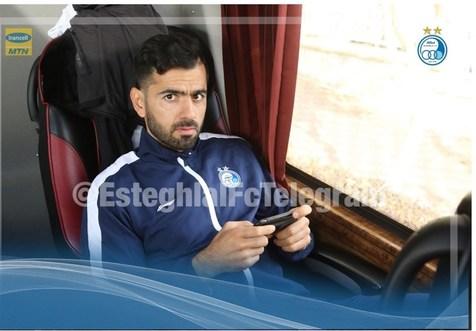 مدافع مصدوم استقلال به رشت رفت+ عکس