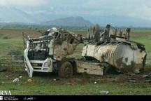 تریلر حامل بنزین در جاده پلدختر - دره شهر واژگون شد