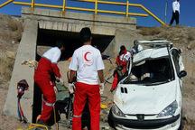 واژگونی پژو 206 در جاده تاکستان-آبگرم جان 2 تن را گرفت
