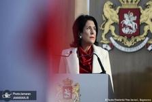 عکس/ مراسم تحلیف نخستین رئیس جمهور زن گرجستان