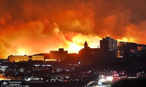 آتش سوزی کره جنوبی