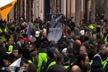 تصاویر/ پرده هشتم از اعتراضات «جلیقه زردها»