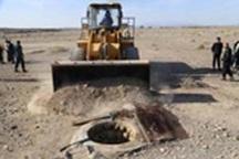 96 حلقه چاه غیر مجاز در گناباد و بجستان مسدود شد
