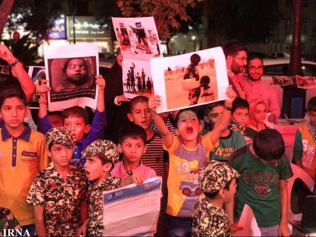 همدردی کودکان موسسه گلستان علی (ع) مشهد با کودکان ستمدیده میانمار