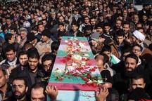 پیکر مطهر 2 شهید گمنام در کانون بسیج جوانان سپاه کرج آرام گرفت