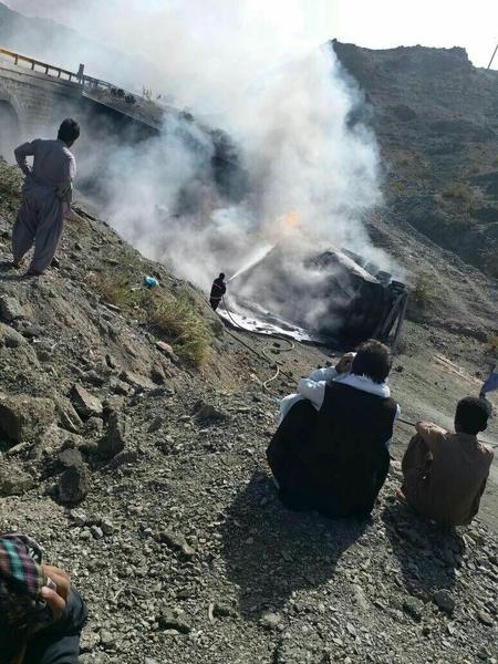 2 کشته بر اثر واژگونی تانکر سوخت در سیستان و بلوچستان