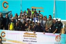 مقام سوم تیم گلستان در رقابت های والیبال ساحلی کارگران کشور