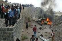 آتش سوزی خودروی سمند در جیرفت سبب مرگ یک  نفر شد
