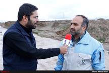 سیلاب رودخانه حاجیعرب همچنان ادامه دارد  تبدیل سیلاب تهدیدی برای روستاهای اطراف بوئین زهرا