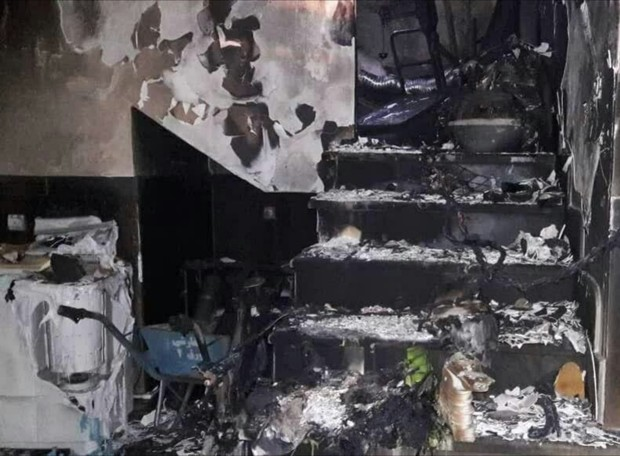 وقوع آتش سوزی در یک کارگاه کفاشی در تبریز