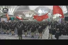 مراسم عزاداری و سینه زنی دژبان ارتش در حرم مطهر امام