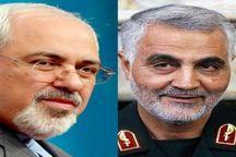قیچی ظریف و سردار سلیمانی در حال دریدن برنامههای آمریکا در خاورمیانه است