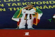 دانش آموز نونهال البرزی طلای تکواندو مسابقات آسیا را کسب کرد