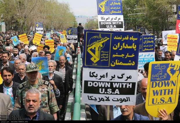 راهپیمایی مردم در سراسر ایران در حمایت از سپاه + تصاویر