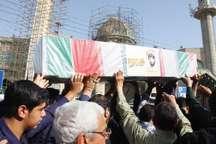 تشییع پیکرهای مطهر چهار شهید دفاع مقدس در دزفول