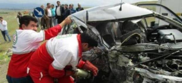 تصادف در جاده کرج - چالوس 6 مصدوم برجا گذاشت
