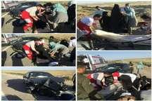 واژگونی خودرو در محور قم – گرمسار چهار مصدوم بر جای گذاشت