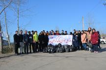 مهربانی با طبیعت با جمع آوری 40 کیسه زباله توسط مهرآیینی ها