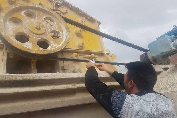 ۱۴ واحد تولید مصالح ساختمانی غیر استاندار در گچساران پلمپ شد