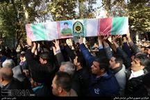 پیکر پاک شهید محمود نیستانی در بجنورد آرام گرفت