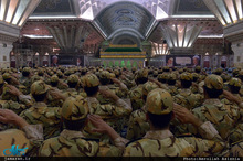 تجدید میثاق فرماندهان و دانشجویان دانشگاههای افسری آجا با آرمان های حضرت امام(س)