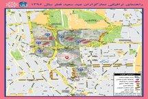 ممنوعیتها و تدابیر ترافیکی نمازعیدفطر در تهران + نقشه