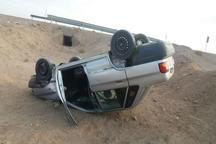 واژگونی خودرو در جاده گلپایگان هشت مصدوم برجاگذاشت
