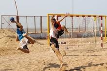 تیم ملی هندبال ساحلی بزرگسالان کشور در بندرعباس اردو زد