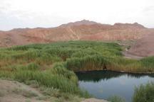 تلخاب چشمه ای سبز با آب تلخ در سرزمینی به رنگ سرخ
