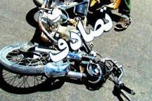 تصادف در فسا جان راکب موتورسیکلت را گرفت
