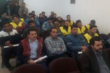 تمرین ایمن سازی پست های هوایی برق در همدان برگزار شد