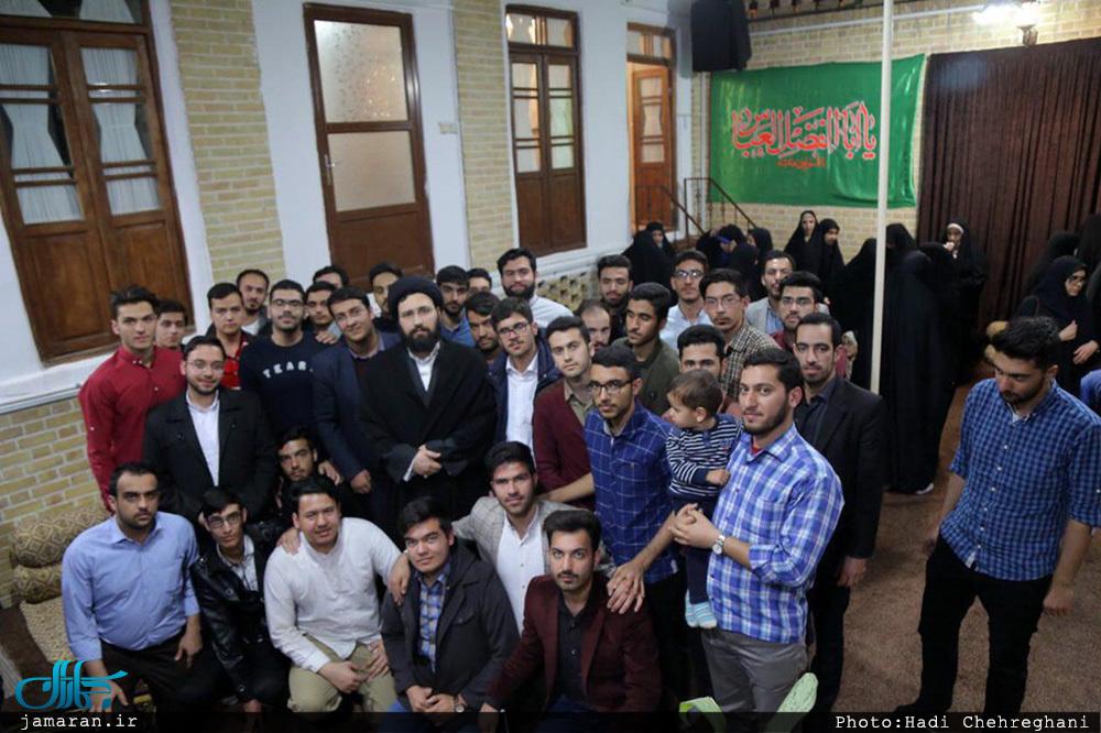 دیدار اعضای انجمن اسلامی دانشجویان دانشگاه فردوسی مشهد با سید علی خمینی