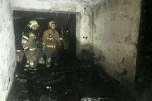 آتش سوزی منزل مسکونی در تهران یک مصدوم و 20 نجات یافته داشت