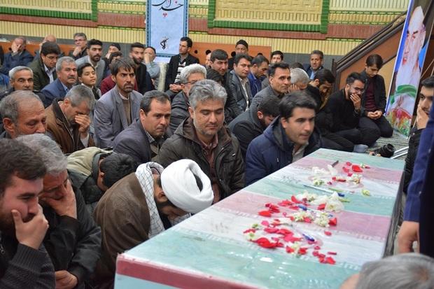 آیین شب وداع با شهید گمنام در شوط برگزار شد