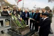 سرپرست فدراسیون ژیمناستیک به مقام شامخ شهدای قزوین ادای احترام کرد