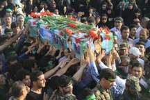 تشییع باشکوه دومین شهید مدافع حرم استان بوشهر در بندرگناوه