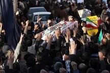 تشییع پیکر جانباز شهید درعلی آبادکتول از توابع گلستان