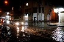 بارش باران موجب آبگرفتگی معابر در شمال خوزستان شد