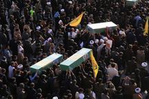 پیکر مطهر سه شهید مدافع حرم در قم تشییع شد