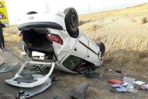 پنج نفر بر اثر واژگونی خودرو در نایین مصدوم شدند
