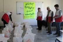 جمعیت هلال احمر استان اردبیل بیش از یک هزار سبد غذایی توزیع کرد